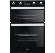 Belling Built-in Double Oven BI902FPBLK Black