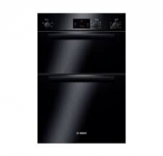Bosch Built-in double hot air oven HBM13B261B black
