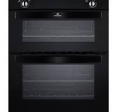 New World Built-under Double Oven NW701DO Black