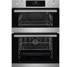 AEG Built In Double Oven DEB331010M Stainless Steel