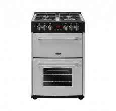 Belling Farmhouse 60DF Dual Fuel Cooker Silver