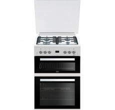 Beko 60cm Gas Cooker with Lid EDG6L33W