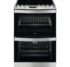 AEG Ceramic Cooker CCB6740ACM - Stainless Steel
