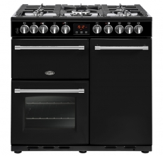 Belling Farmhouse Range Cooker Deluxe 90DFT Black