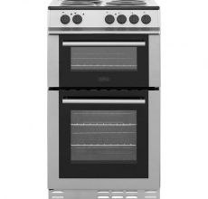 Belling Electric Cooker FS50ET Silver Twin Cavity