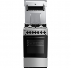Beko Eye Level Gas Cooker KA52NES Silver