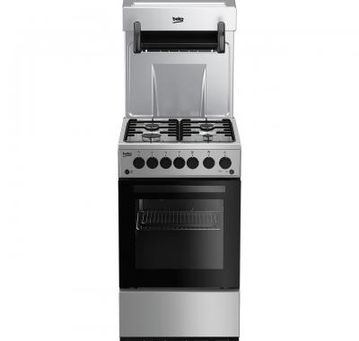 beko eye level gas cooker ka52nes silver. Black Bedroom Furniture Sets. Home Design Ideas