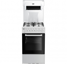 Beko Eye Level Gas Cooker KA52NEW White