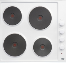 Beko Solid Plate Electric Hob HIZE64101W White