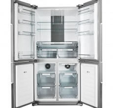Hotpoint Quattro Fridge Freezer HPSN4TAPLUSIN Stainless Steel
