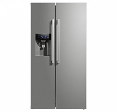 Montpellier  M530PDIX Side by Side Fridge Freezer with Plumbed Ice & Water Inox