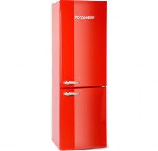 Montpellier Retro Fridge Freezer MAB365R Red
