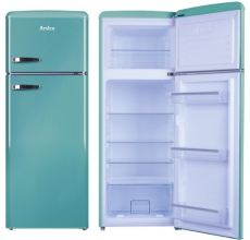 Amica Retro Fridge Freezer FDR2213DB Duck Egg Blue
