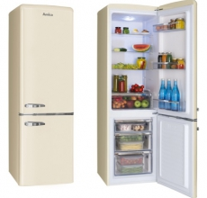 Amica Retro Fridge Freezer FKR29653C Cream