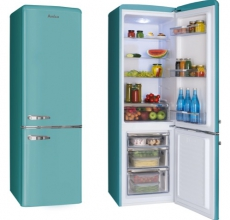 Amica Retro Fridge Freezer FKR29653DEB Duck Egg Blue