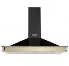 Stoves Richmond 100cm Cooker Hood with Rail Champagne