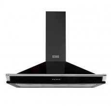Stoves Richmond 90cm Cooker Hood with Rail Black