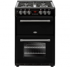 Belling Farmhouse 60DF Mini Range Cooker Black