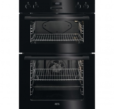 AEG Built In Double Oven DEE431010B Black