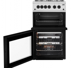 Beko Gas Cooker KDG582S Twin Cavity Silver
