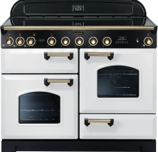 CDL110DFFWH/B Rangemaster Classic Deluxe 110cm DF White & Brass 112940