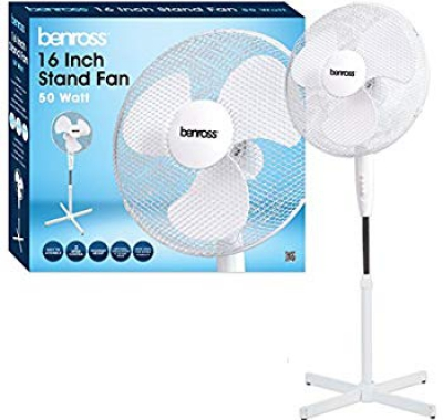 Benross 12 Inch Stand Fan White