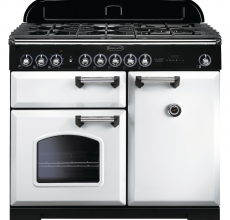 Rangemaster Classic Deluxe 100cm CDL100DFFWH/C DF White/Chrome