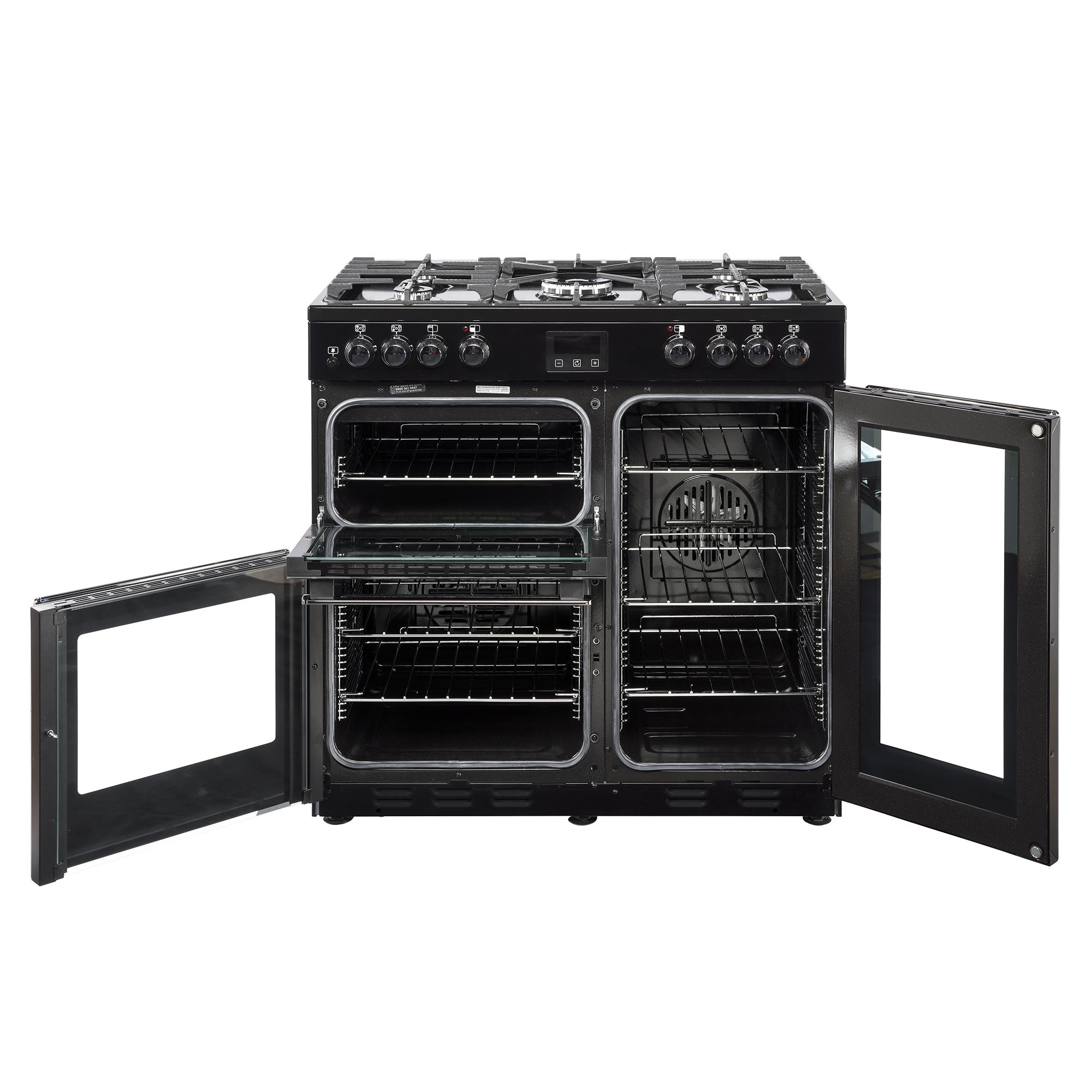 Belling Farmhouse Range Cooker Dx90dft Black