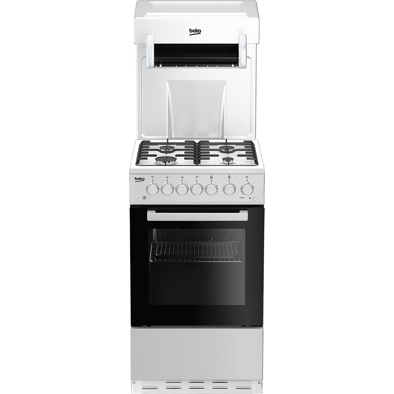 beko eye level gas cooker ka52new white. Black Bedroom Furniture Sets. Home Design Ideas