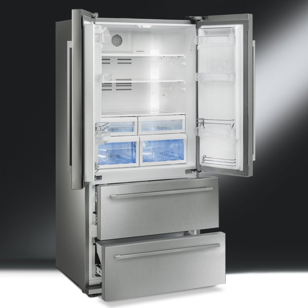 Range Style Cookers >> Smeg FQ55FX American Style Fridge Freezer