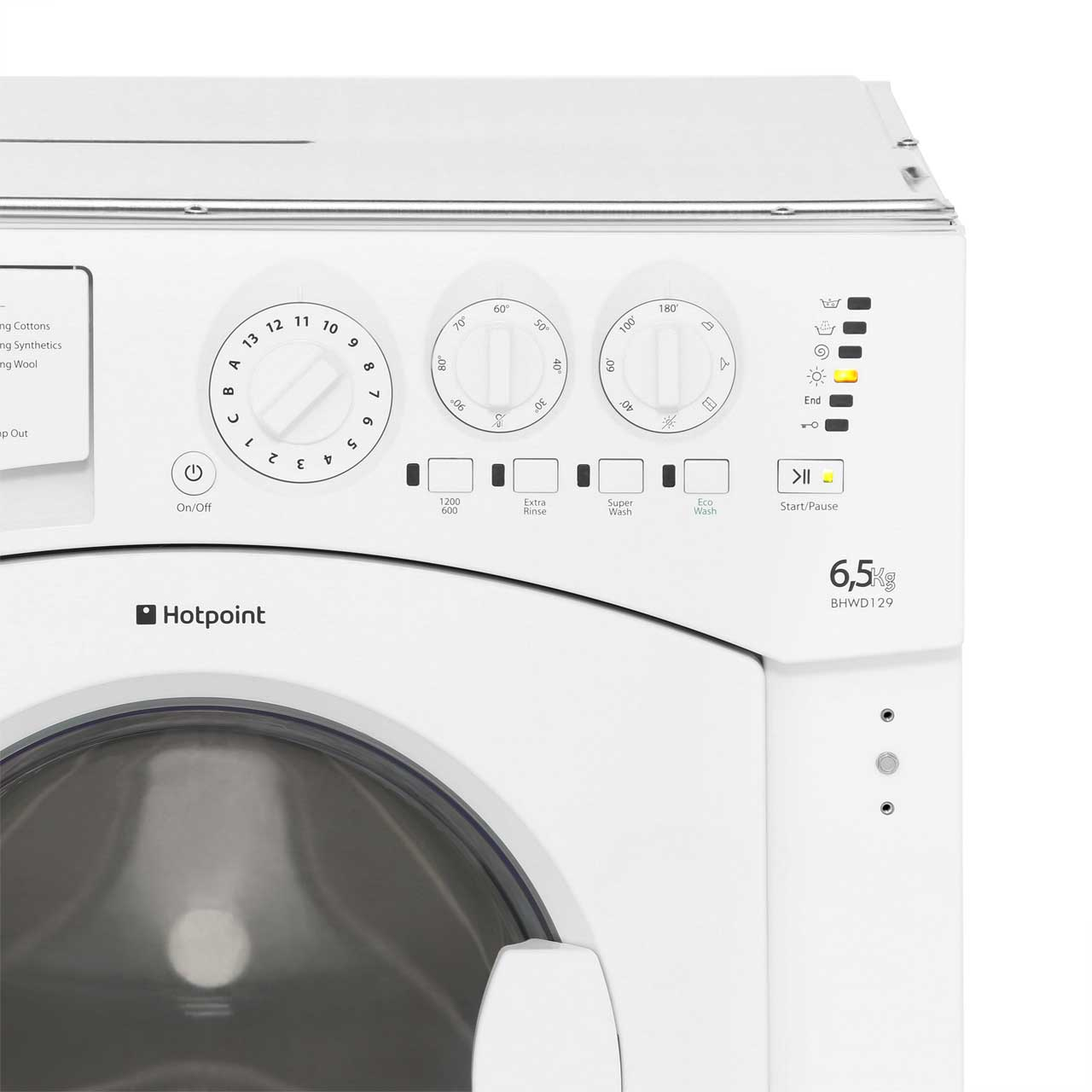 hotpoint built in washer dryer bhwd129 2. Black Bedroom Furniture Sets. Home Design Ideas