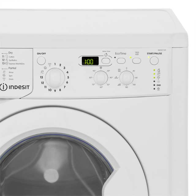 indesit washer dryer iwdd7143 w. Black Bedroom Furniture Sets. Home Design Ideas