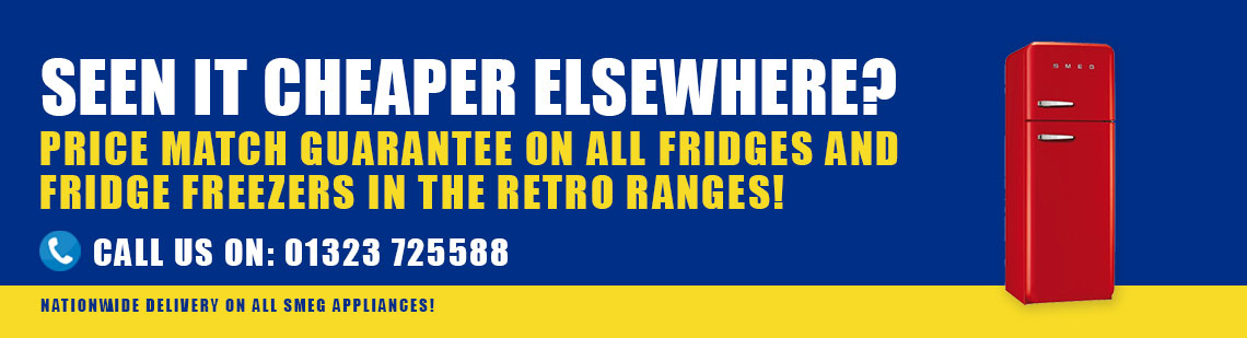 retro fridge freezer purchase promo banner